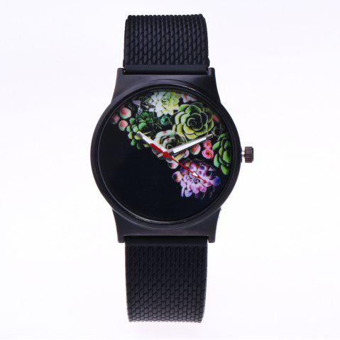 Unique Trendy Simple Silicone Band Women Watch