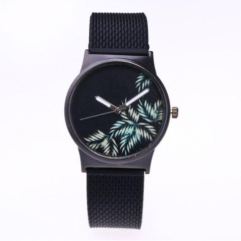 Fancy Trendy Simple Silicone Band Women Watch