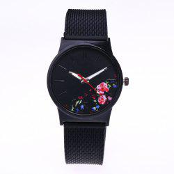 Trendy Simple Silicone Band Women Watch -