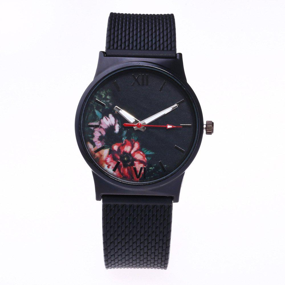 Cheap Trendy Simple Silicone Band Women Watch