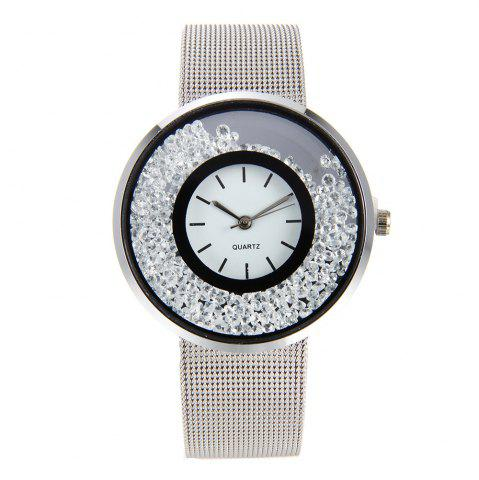 Shop Fashion Stainless Steel Watch for Women Quartz Analog Wrist Watch