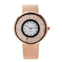 Fashion Stainless Steel Watch for Women Quartz Analog Wrist Watch -