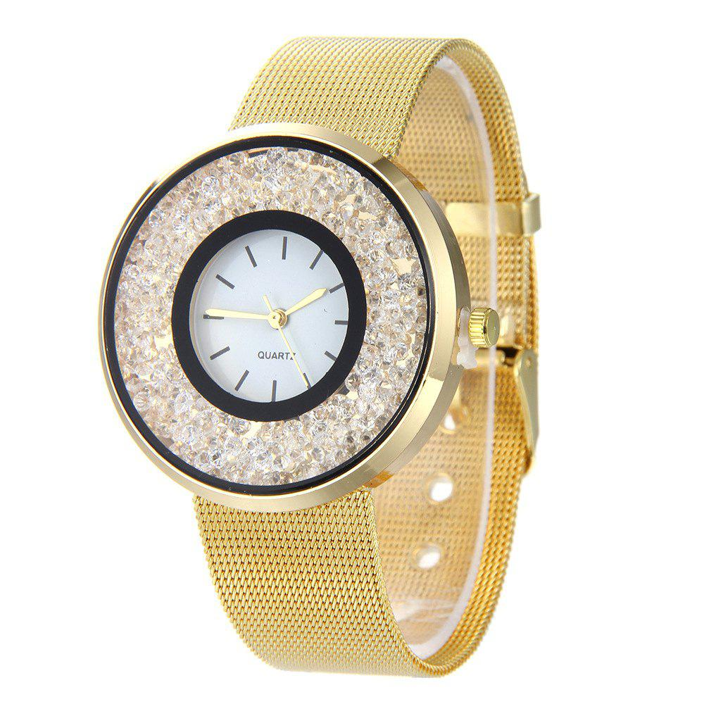 Online Fashion Stainless Steel Watch for Women Quartz Analog Wrist Watch