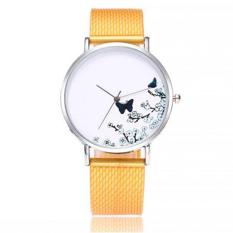 Online Fashion Butterfly Print Watch Women Quartz Watch