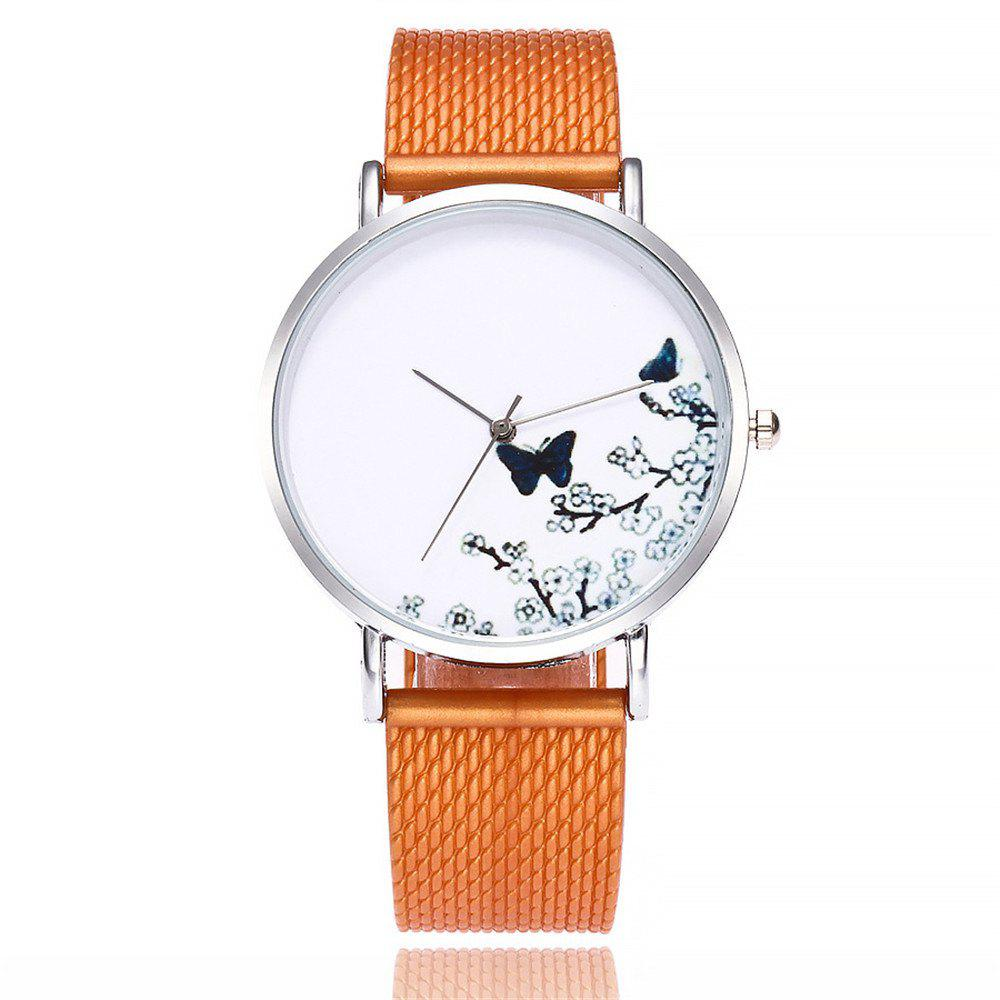 Trendy Fashion Butterfly Print Watch Women Quartz Watch