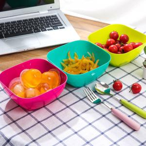 DIHE Plastic Square Snack Bowls Durable Various Styles -