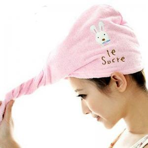 DIHE Lovely Rabbit Dry Hair Cap Super Absorbent Thickening -