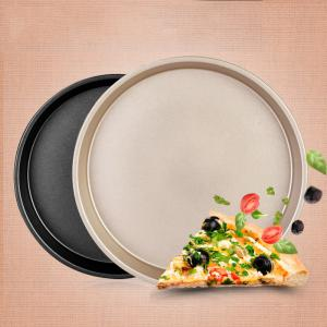DIHE 9Inch Carbon Steel Pizza Pan One Design Rugged and Durable -