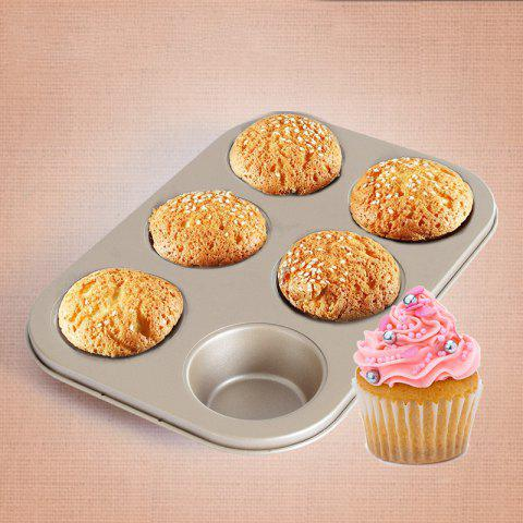 Discount DIHE Cake Carbon Steel Baking Tool 6 Muffin Cake
