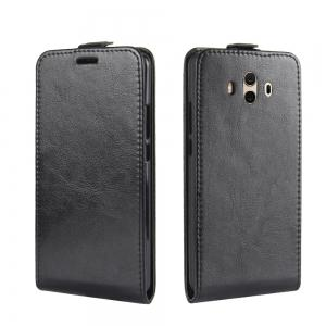 Durable Crazy Horse Pattern Up and Down Style Flip Buckle PU Leather Case for Huawei Mate 10 -
