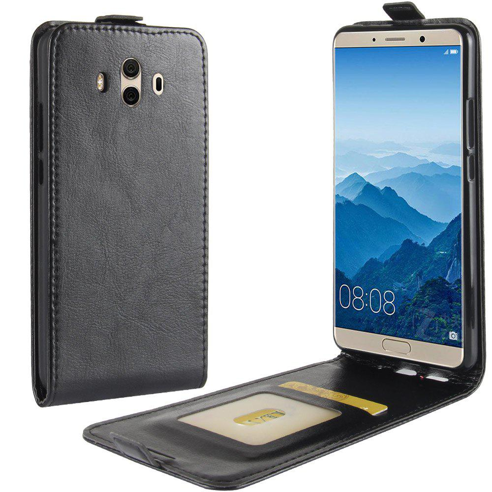 Fashion Durable Crazy Horse Pattern Up and Down Style Flip Buckle PU Leather Case for Huawei Mate 10