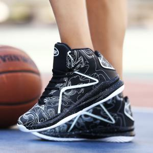 Men's Large Size Printing Luminous Basketball Shoes -