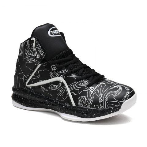 Affordable Men's Large Size Printing Luminous Basketball Shoes