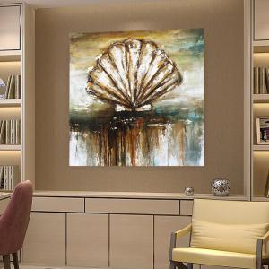 XiangYunChengFeng  Abstract Conch Shell Home Decor Canvas Oil Painting -