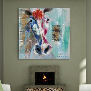 XiangYunChengFeng Modern Square Oil Painting Fine Horse Hanging Wall Art -