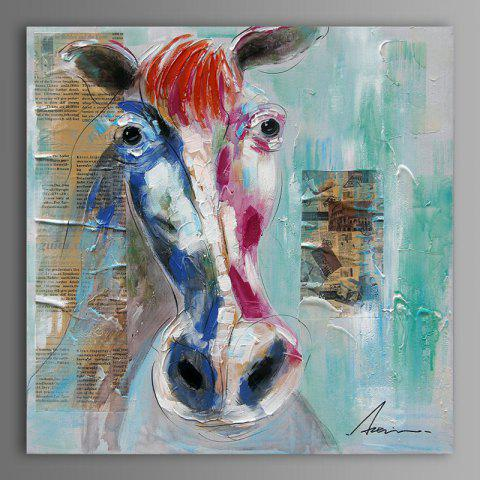 Cheap XiangYunChengFeng Modern Square Oil Painting Fine Horse Hanging Wall Art