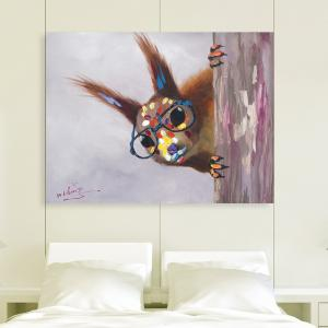 XiangYunChengFeng   Hand Painted Squirrel Animal Oil Painting -