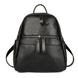 Women's Backpack Solid Color Brief Design Versatile Top Fashion All-match Bag -