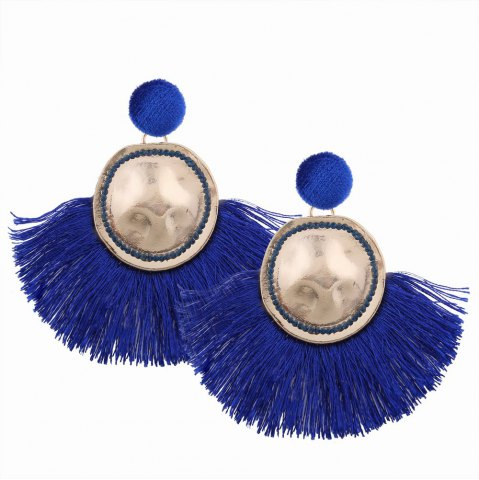Модный дизайн Фэн-формы Tassel Earrings Circular Alloy Charm Jewelry