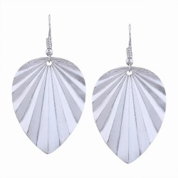 Fashion Design Leaf-shaped Drop Earrings Charm Jewelry Graceful Accessories -