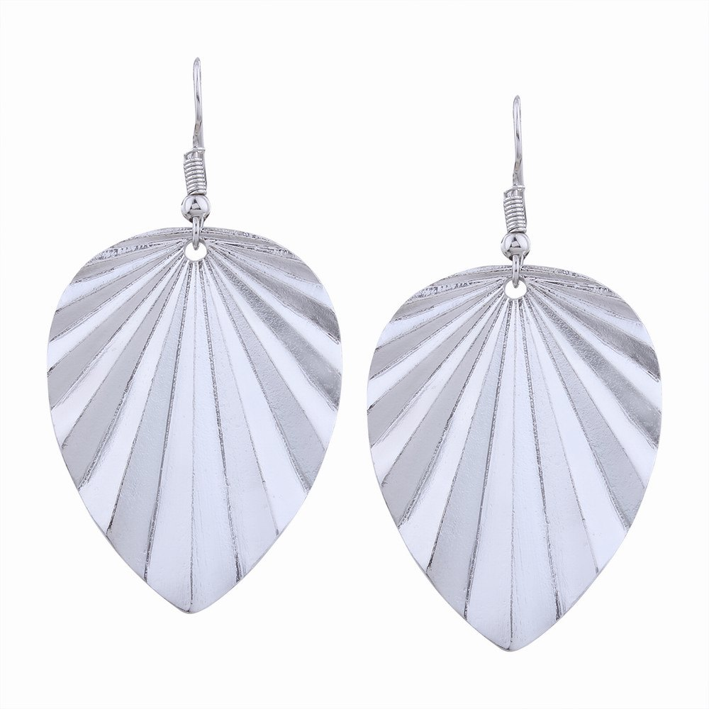 Unique Fashion Design Leaf-shaped Drop Earrings Charm Jewelry Graceful Accessories