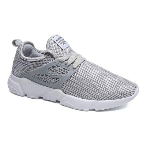Outfit Solid Breathable Lace Up Leisure Shoes