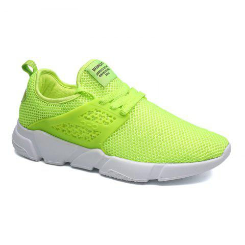 Fancy Solid Breathable Lace Up Leisure Shoes