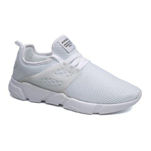 Online Solid Breathable Lace Up Leisure Shoes