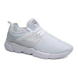 Solid Breathable Lace Up Leisure Shoes -