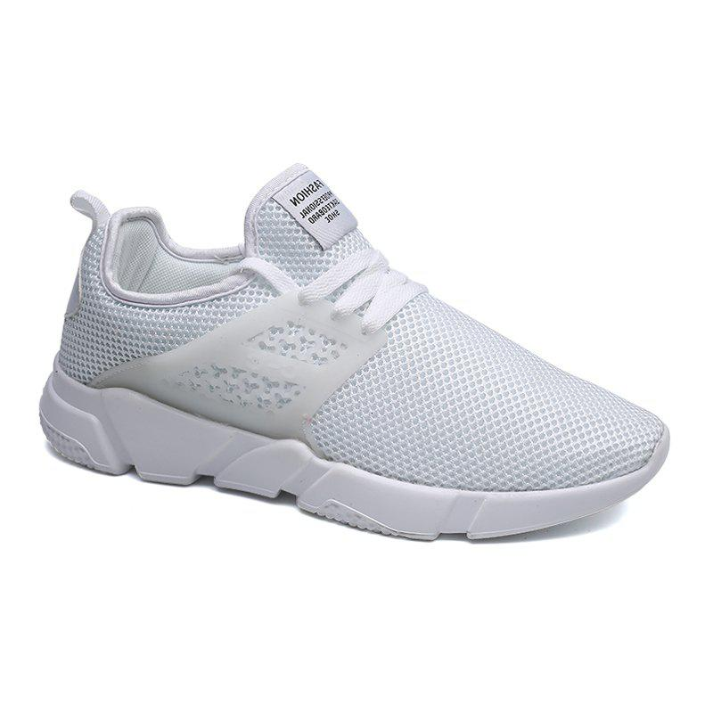 Affordable Solid Breathable Lace Up Leisure Shoes