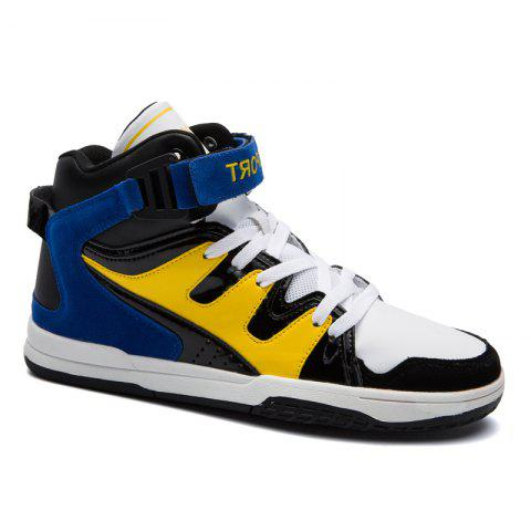 Latest Fashion High Vamp Men Colorful Flat Shoes
