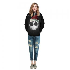 Starry Sky Printed Christmas Long Sleeve Lover Hoodie -