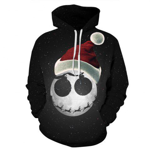 New Starry Sky Printed Christmas Long Sleeve Lover Hoodie