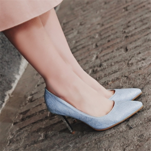 Women's Shoes Leatherette All Season Comfort Heels Pointed Toe Wedding Pumps -