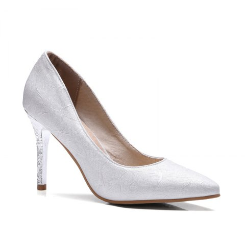 Store Women's Shoes Leatherette All Season Comfort Heels Pointed Toe Wedding Pumps