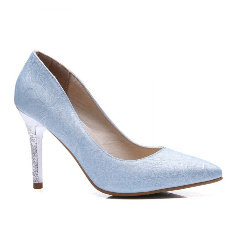 Unique Women's Shoes Leatherette All Season Comfort Heels Pointed Toe Wedding Pumps