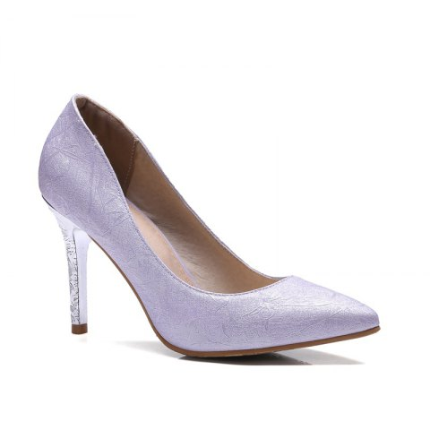Fancy Women's Shoes Leatherette All Season Comfort Heels Pointed Toe Wedding Pumps