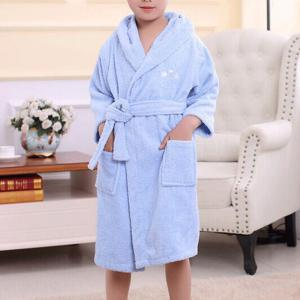 Cotton Towelling Bathrobe Children Cartoon Hooded Bathrobe -