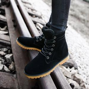 Winter Warm Casual Leather Plush Fur Fashion Boots -