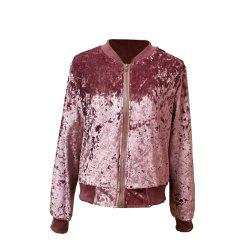 Velvet Baseball  Short Coat -
