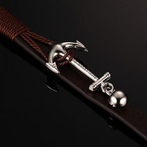 Anchor Woven Multi-layer Accessories Leather Rope Jewelry Bracelet -