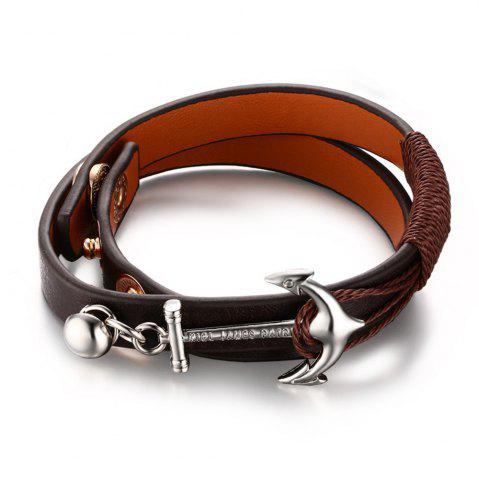 Shops Anchor Woven Multi-layer Accessories Leather Rope Jewelry Bracelet