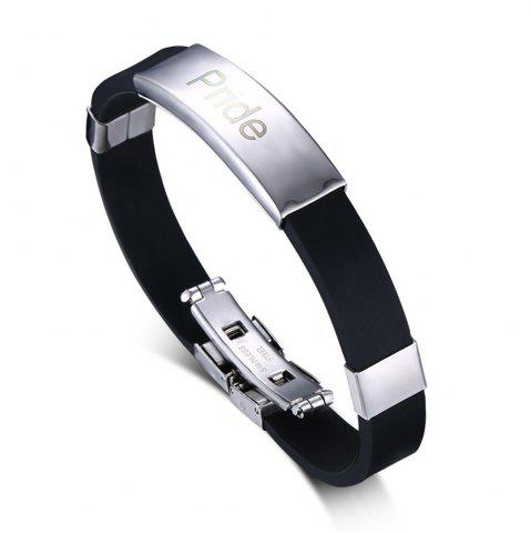 Outfits Fashion Wild Jewelry Homosexual Pride Silicone Bracelet