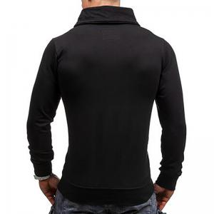 Men's Sports Casua  Hoodie Patchwork  Cotton Blend Long Sleeve -