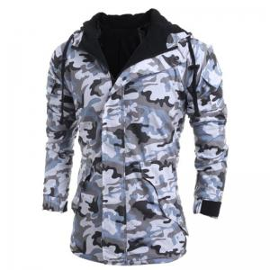 Men's Fashion Casual Camouflage Hooded Coat -