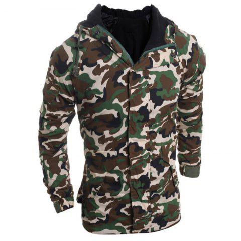 Fancy Men's Fashion Casual Camouflage Hooded Coat