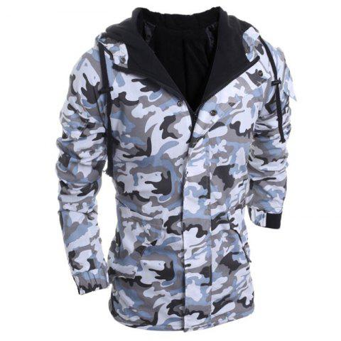Online Men's Fashion Casual Camouflage Hooded Coat