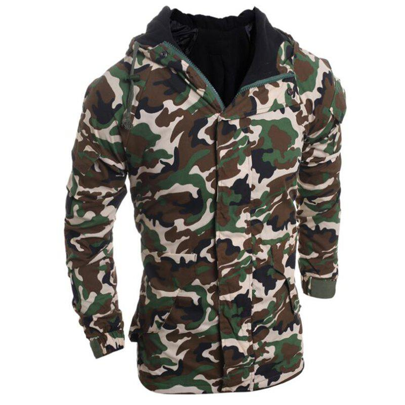Discount Men's Fashion Casual Camouflage Hooded Coat