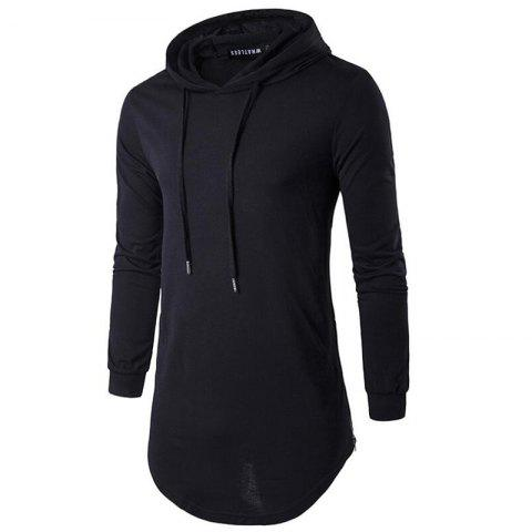 New Men's Sports Casual Hoodie Solid  Long Sleeve