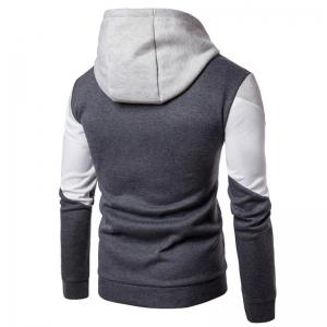 Men's Casual Hoodie Fleece Splicing Fabric -